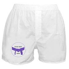 Custom Martial Arts Purple Belt Boxer Shorts