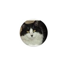 Black and White Cat Mini Button (100 pack)