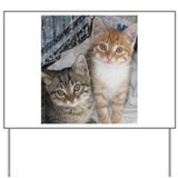 Orange and Gray Tabby Kitty Cats Yard Sign