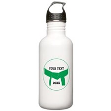 Custom Martial Arts Green Belt Water Bottle