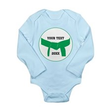 Custom Martial Arts Green Belt Infant Bodysuit
