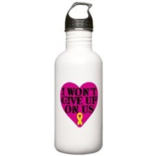 I Won't Give Up: Yellow Ribbon Water Bottle