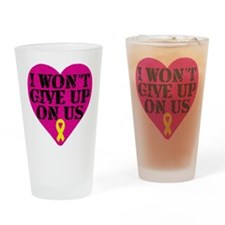 I Won't Give Up: Yellow Ribbon Drinking Glass