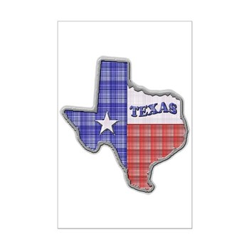 Plaid Texas Mini Poster Print