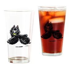 Schipperke Lets Play Drinking Glass