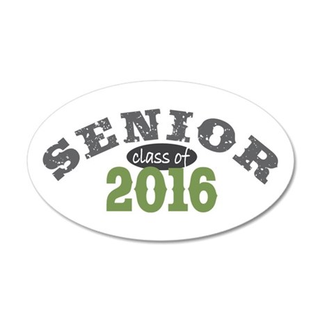 Senior Class of 2016 20x12 Oval Wall Decal