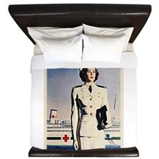 Navy Nurse King Duvet