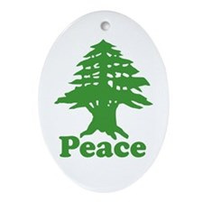 Peace Oval Ornament