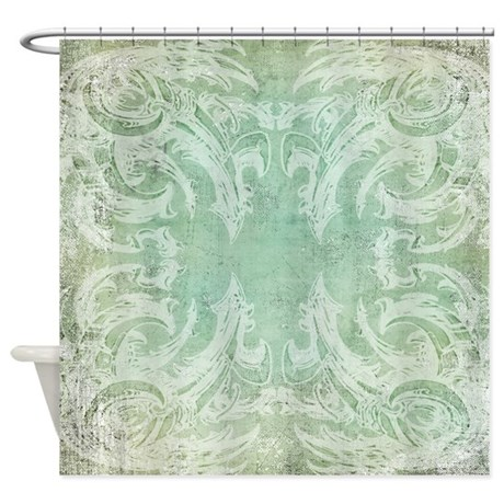 Victorian Vintage Shower Curtain dino biomech by DinoMech
