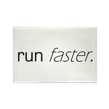 Run Faster Rectangle Magnet