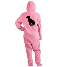 bull terrier black.png Footed Pajamas