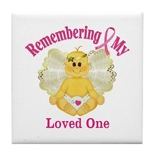 Remembrance Angel Tile Coaster