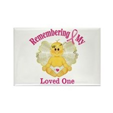 Remembrance Angel Rectangle Magnet
