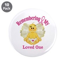 """Remembrance Angel 3.5"""" Button (10 pack)"""