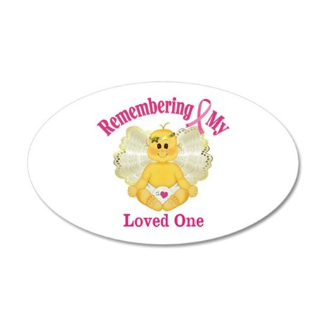 Remembrance Angel 20x12 Oval Wall Decal