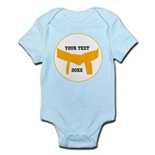 Custom Martial Arts Orange Belt Infant Bodysuit