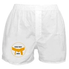 Custom Martial Arts Orange Belt Boxer Shorts