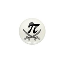 Pi - Rate Greyscale Mini Button (100 pack)