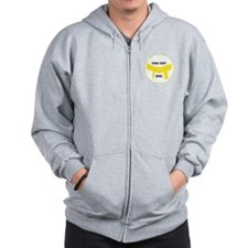 Custom Martial Arts Yellow Belt Zip Hoodie