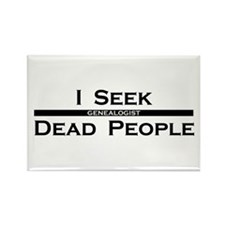 I Seek Dead People Rectangle Magnet (10 pack)