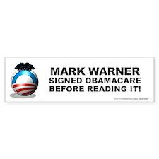 Warner Signed Car Sticker