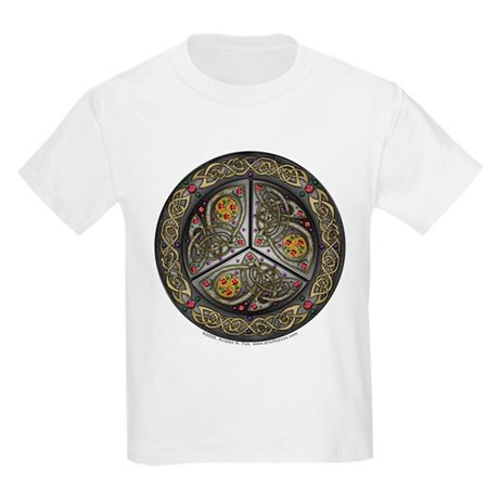 Bejeweled Celtic Shield Kids T-Shirt