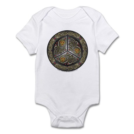 Bejeweled Celtic Shield Infant Creeper