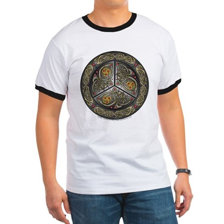 Bejeweled Celtic Shield Ringer T