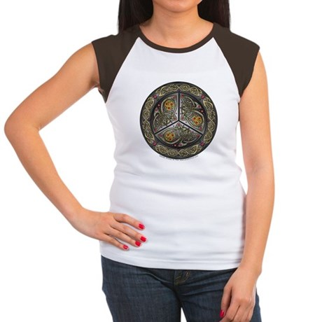 Bejeweled Celtic Shield Women's Cap Sleeve T-Shirt