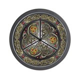 Bejeweled Celtic Shield Wall Clock