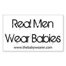 Real Men Wear Babies Decal