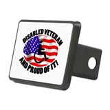 Proud Disabled Veteran Rectangular Hitch Cover