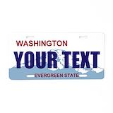 Washington novelty License Plates