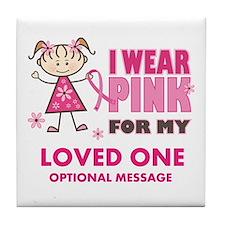 Custom Wear Pink Tile Coaster