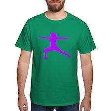 Yoga Warrior 2 Pose T-Shirt