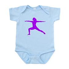 Yoga Warrior 2 Pose Infant Bodysuit