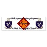 1-179th A Company Bumper Bumper Sticker