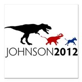 Gary Johnson 2012 Revolution Square Car Magnet 3""