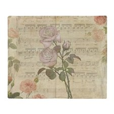 Vintage Romantic pink rose and music score Stadiu