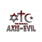Original Axis of Evil 35x21 Wall Decal