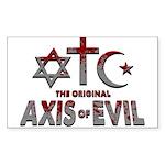 Original Axis of Evil Sticker (Rectangle 50 pk)