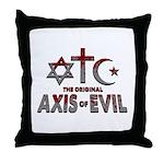 Original Axis of Evil Throw Pillow