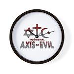 Original Axis of Evil Wall Clock