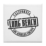 Long Beach Title Tile Coaster