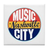 Nashville Vintage Label Tile Coaster