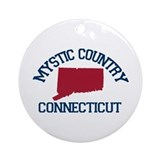 Mystic CT - Map Design. Ornament (Round)