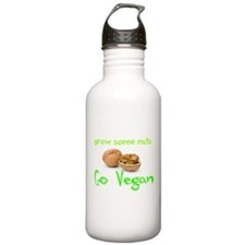 Go Vegan grow some nuts 1 Water Bottle