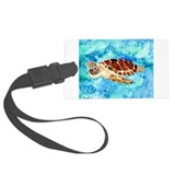 paintings of sea turtles and gifts Luggage Tag