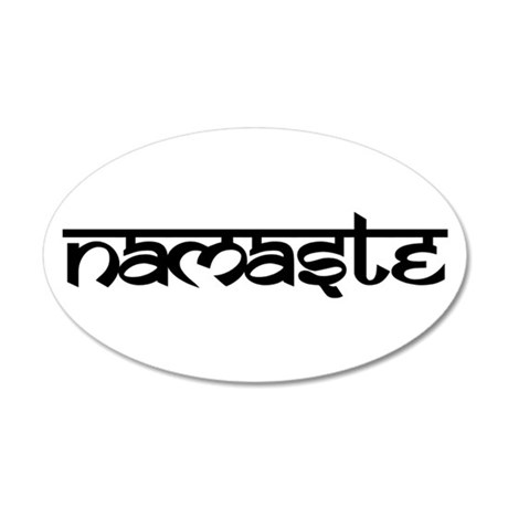 Namaste 35x21 Oval Wall Decal