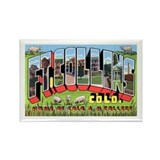 Fort Collins Colorado Greetings Rectangle Magnet